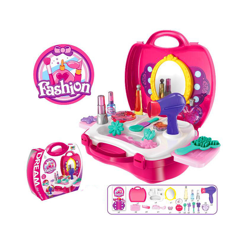 Girl Play House Makeup Tool Cosmetic Kit Play Set Pretend Role Play Classic Simulation Toy For Kids