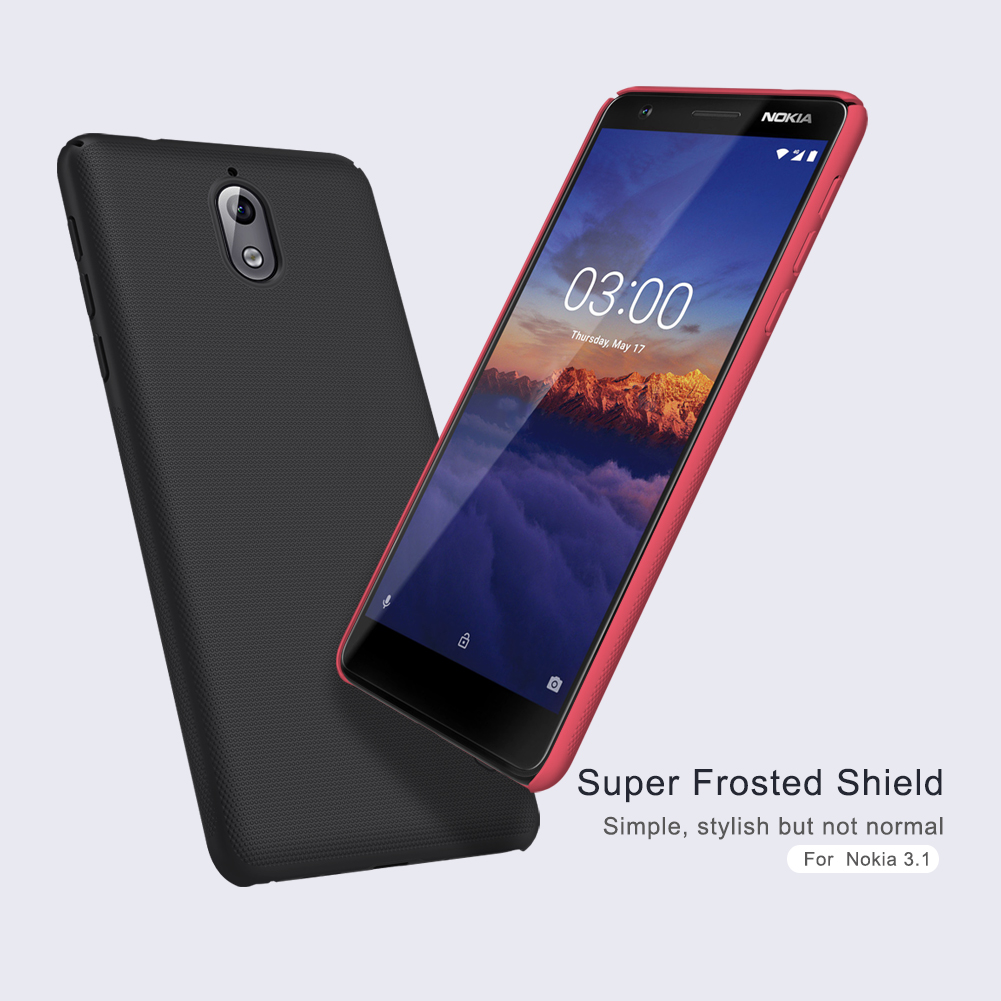 NILLKIN Frosted Shield PC Hard Back Protective Case For Nokia 3.1 / Nokia 3