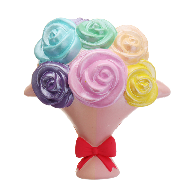 Woow Squishy 16cm Jumbo Flower Bouquet Slow Rising Scented Toy Mother's Day Gift Collection With Decor