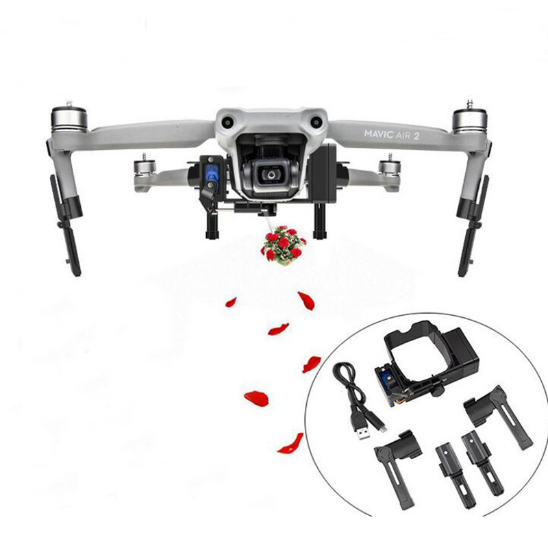 YX Air-Dropping System Wedding Fishing Bait Delivery Remote Thrower with Landing Gear for DJI Mavic AIR 2 Drone