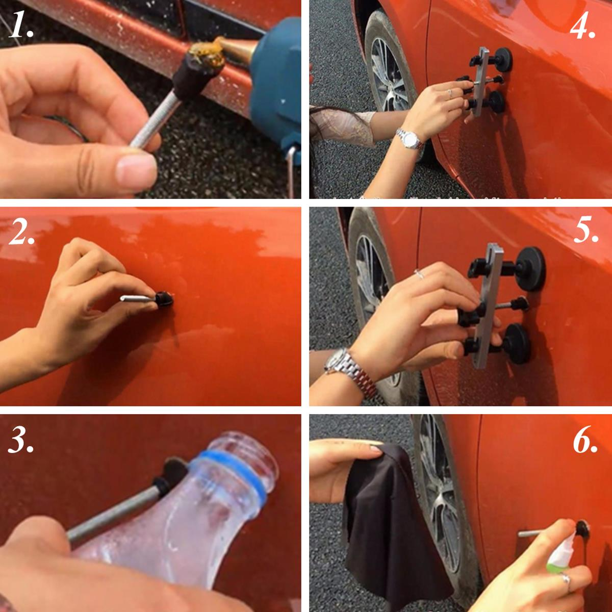 Car Paintless Dent Repair Removal PDR Tools Kit Auto Body Bridge Puller Glue Tab