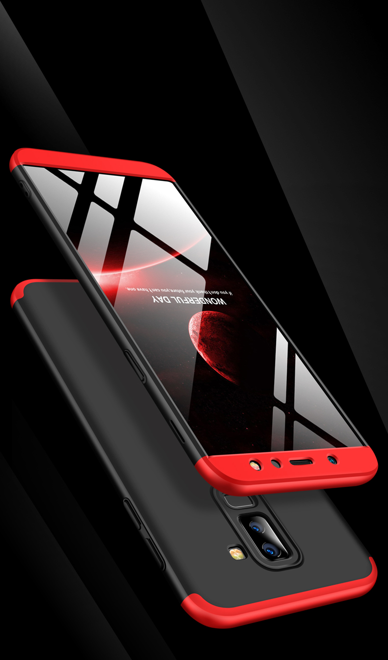 Bakeey™ 3 in 1 Double Dip 360° Full Body Protective Case for Samsung Galaxy A6 Plus 2018