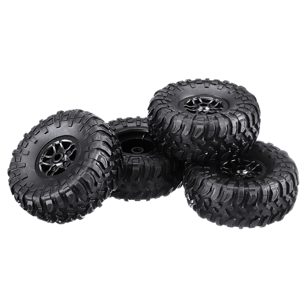 4PCS MN-90 1/12 Rc Car Spare Parts Rubber Wheel Rim & Tires