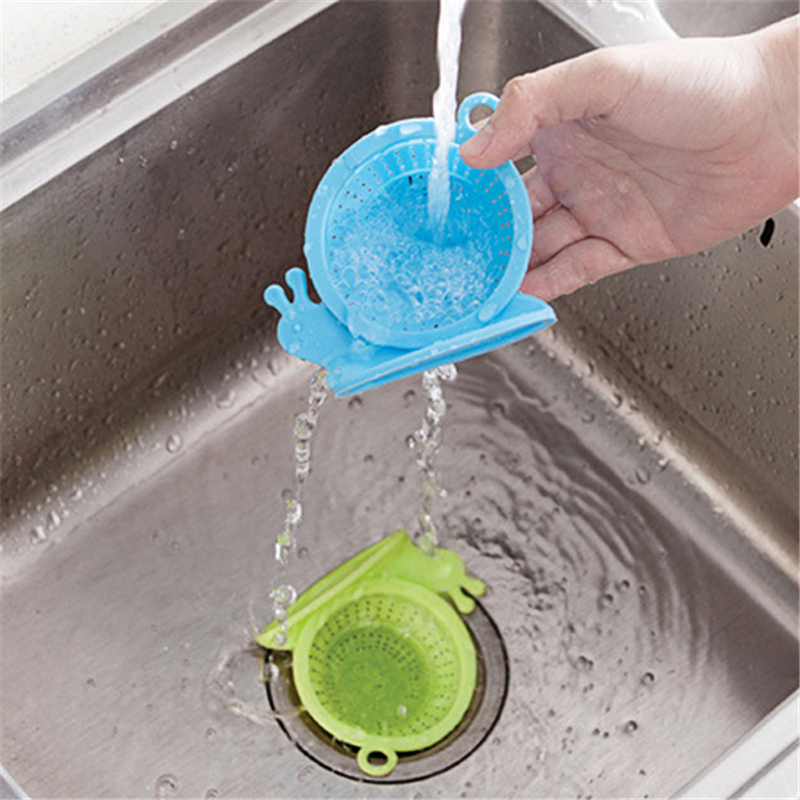 Lovely Snail Silicone Drain Cover Kitchen Food Residue Strainer Bathroom Hair Floor Drain