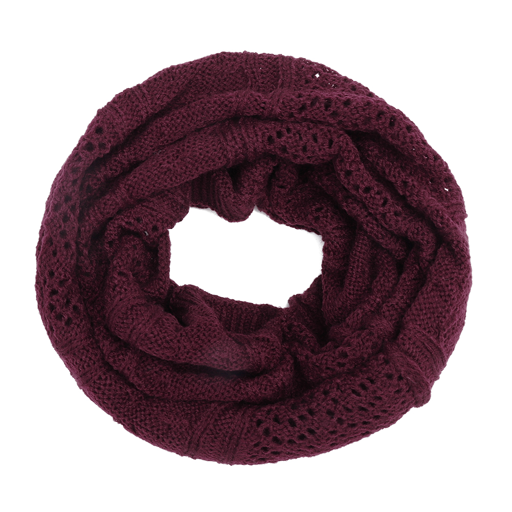 Women's Hollow Knitted Hat Beanie Scarf Dual-Use Headpiece