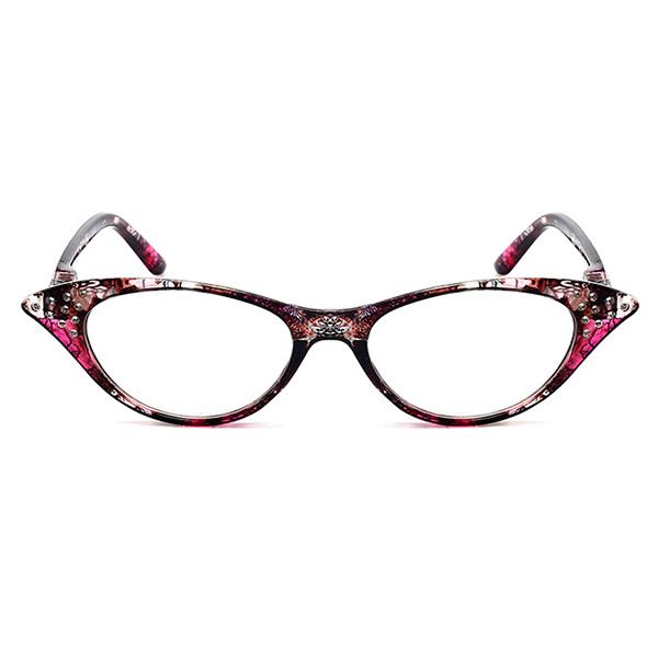 Women Cat Eye Flower Frame Reading Glasses