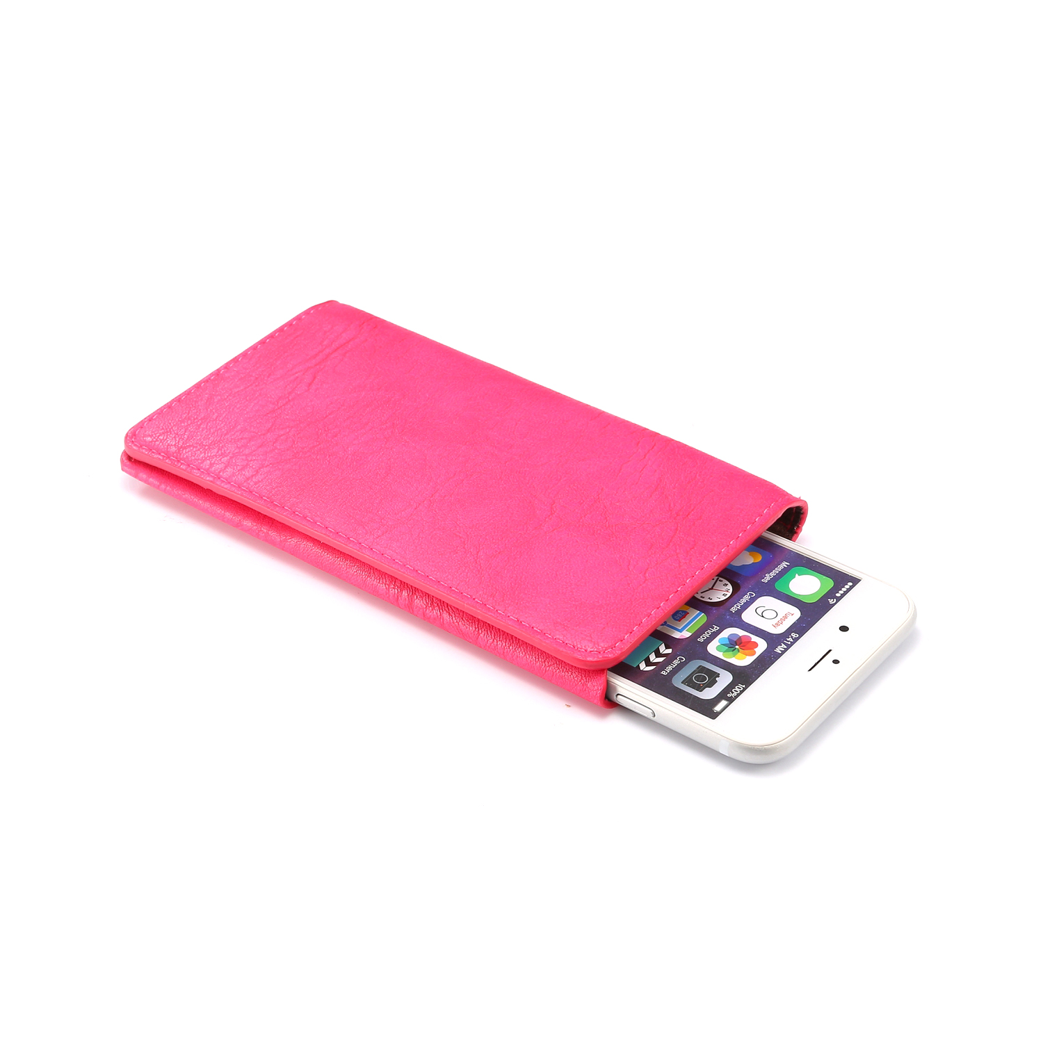 Universal Women Portable Texture Card Slot Phone Wallet Pouch Bag for iPhone 7 6s Mobile Phone 4.3~4.8 Inches