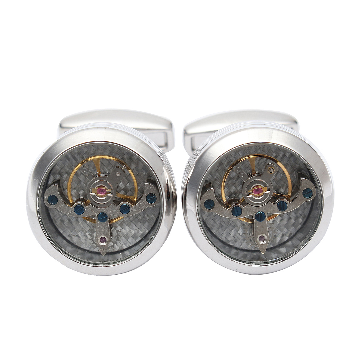 Men Male Sliver Vintage Steampunk Watch Shape Wedding Cuff Links Cuff Links Mens Gift Suit Shirt