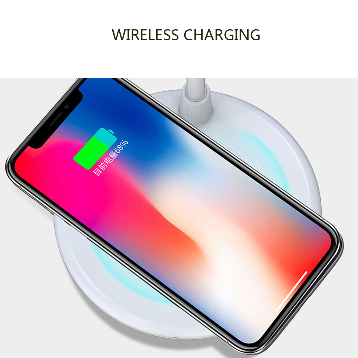 3 In 1 Qi Wireless Charger+LED Lamp+Bluetooth Speaker For iPhone Samsung Huawei Xiaomi LG