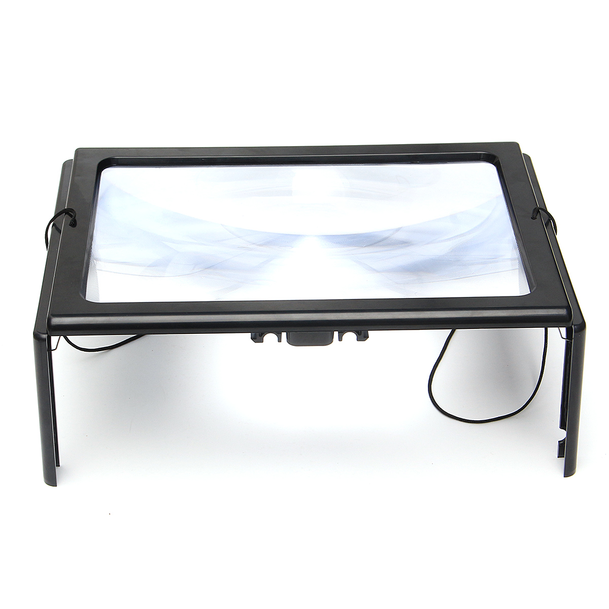 Hands Free Magnifier Magnifying Glass Reading Repairing Aid with 4 LED Light