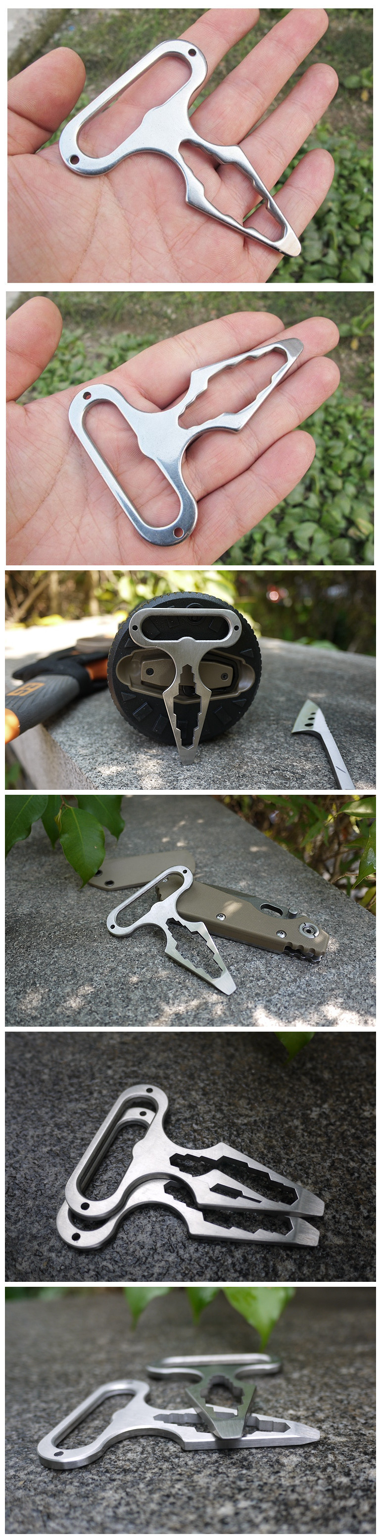Outdooors EDC Wrench Tool Portable Pocket Tool Multifunctions Screwdriver Bottle Opener Survival Gear