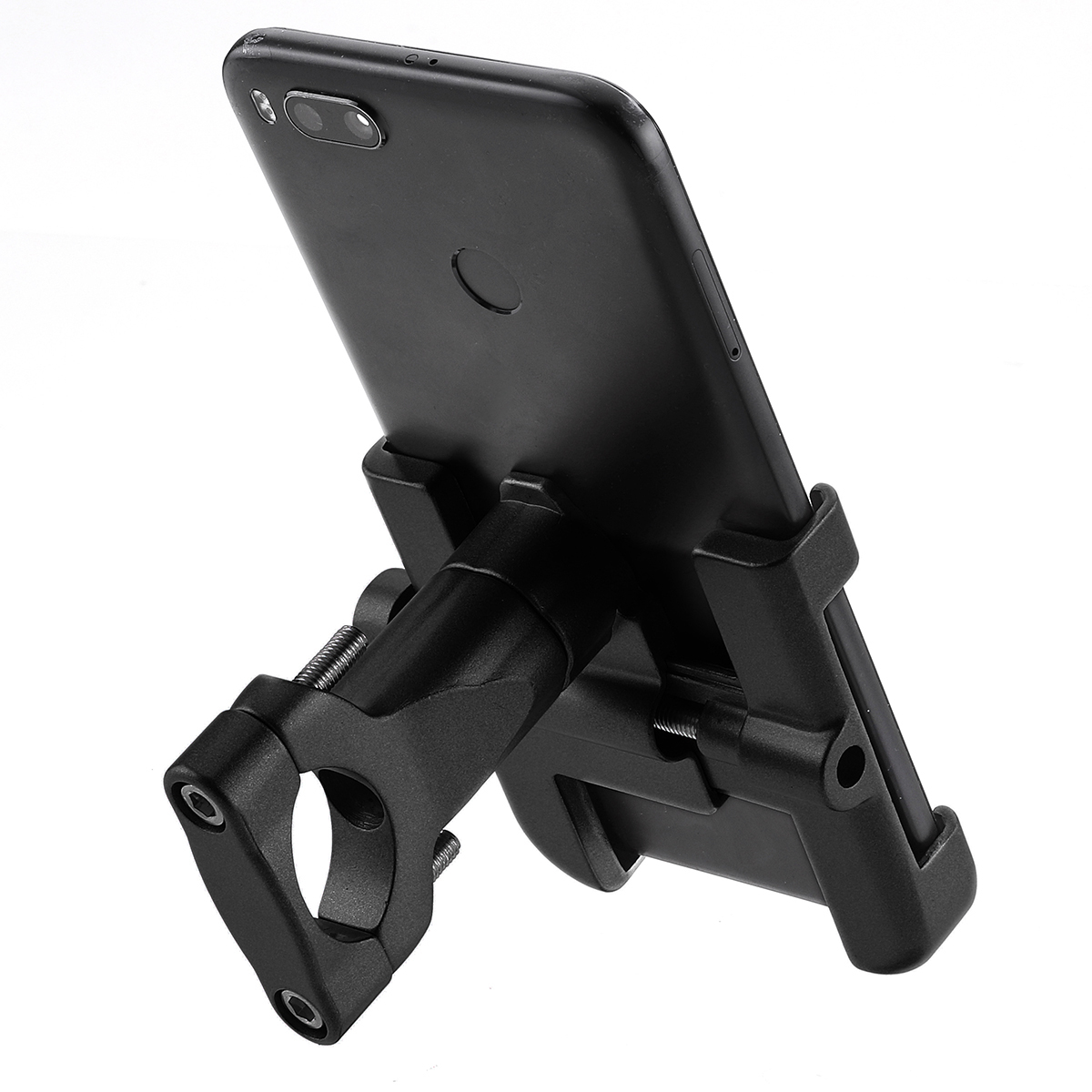 Aluminum Universal Black Mobile Phone GPS Mount Holder Stand Gold For Motorcycle ATV