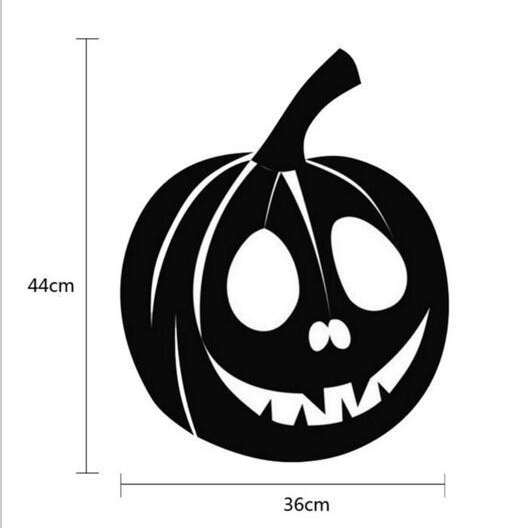 KST-21 Halloween PVC Pumpkin Wall Stickers Window Decoration Festival Wall Decals Poster