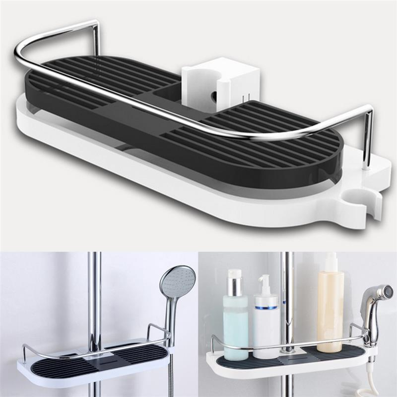 Bath Towel Tray Home Single Tier Shampoo Shower Head Ho