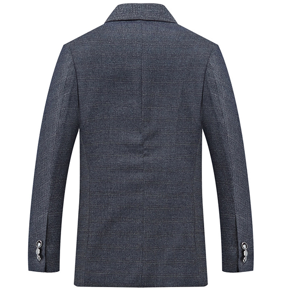Men Slim Fit Gray Single Breasted 2 Buttons Casual Fashion Blazers