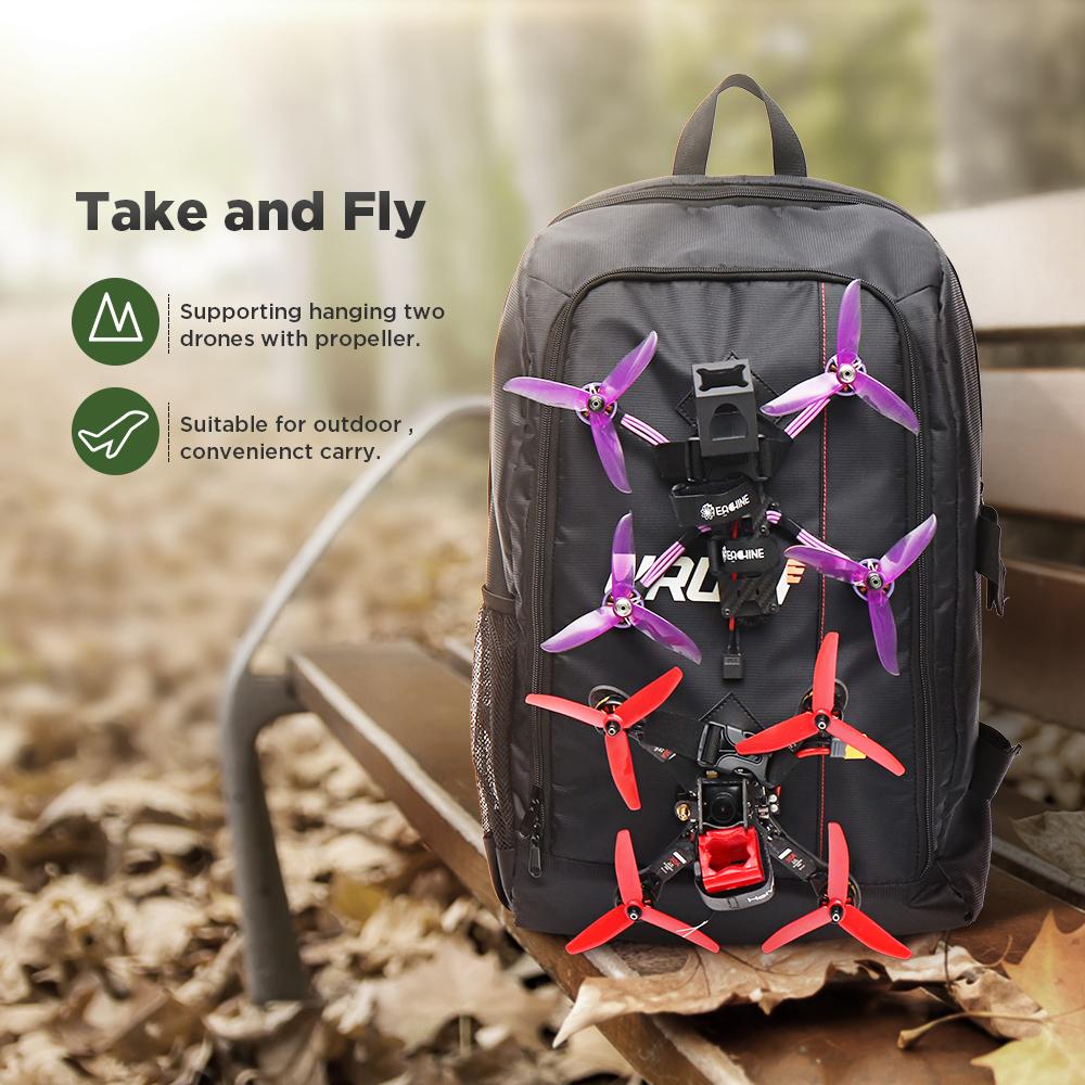 URUAV UR7 Backpack 40x55x22mm with Waterproof Transmitter Beam Port Bag DIY Room for RC Drone FPV Racing - Photo: 2