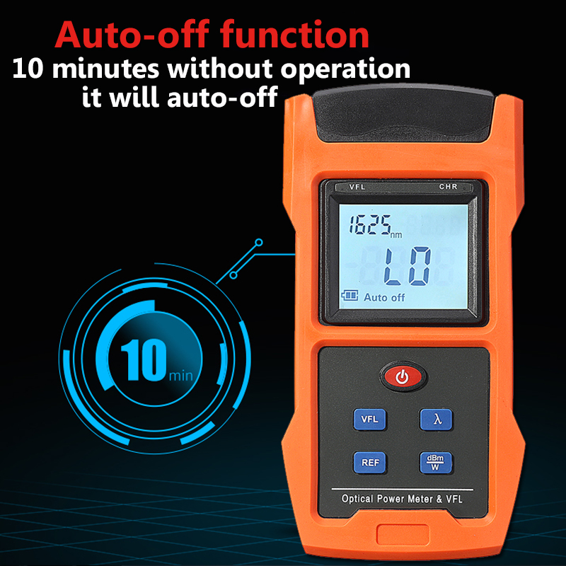 LCD USB 10mW Optical Power Meter and VFL Red Light Source Tester Gause FC SC Adapter