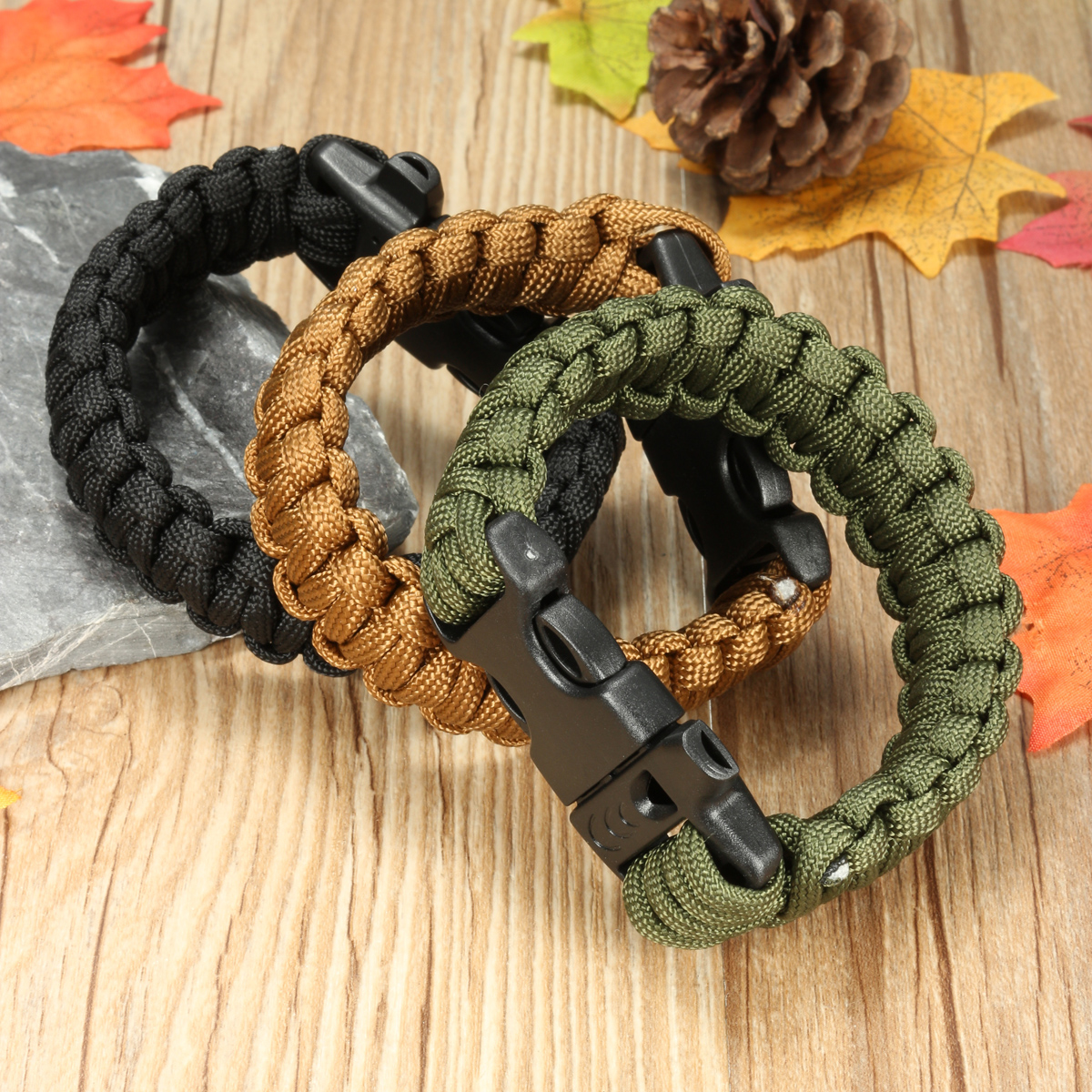 Paracord Survival Weave Bracelet Paracord Survival Bracelet Emergency EDC 7 Cores Bracelet