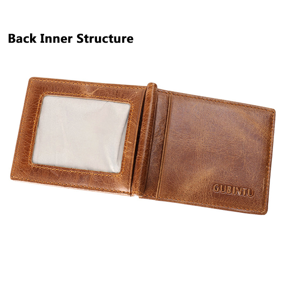 Men Genuine Leather Solid Multicard Coffee Card Wallet Foreign Trade RFID Anti-scanning Wallet