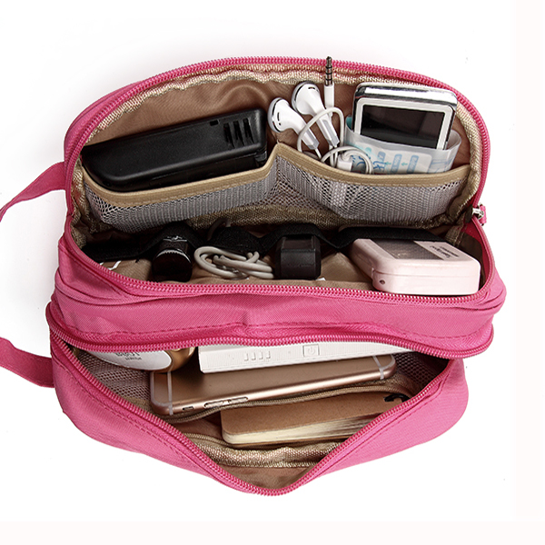 Women Graffiti Toiletry Bag Cosmetic Bag Travel Must-have High End Digital Usb Cable Storage Bag