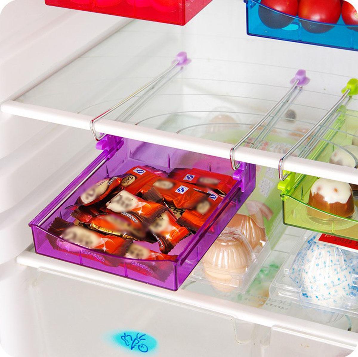 Fridge Space Saver Organizer Slide Under Shelf Rack Home Holder Storage Kitchen