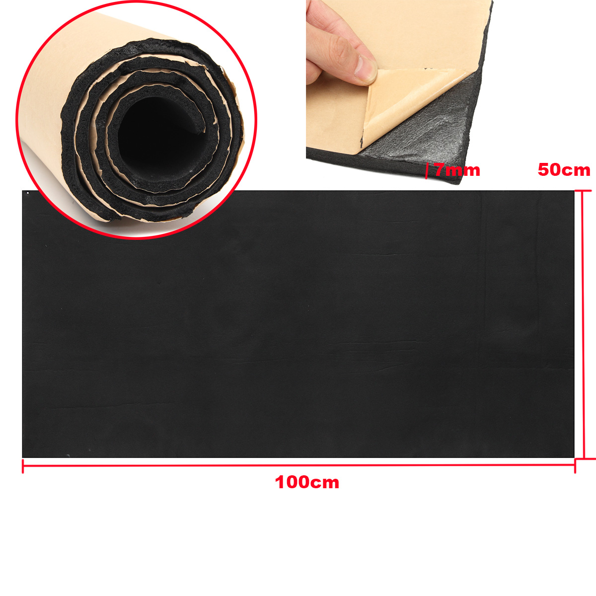 7mm Car Sound Proofing Deadening Insulation Closed Cell Foam 50X100CM