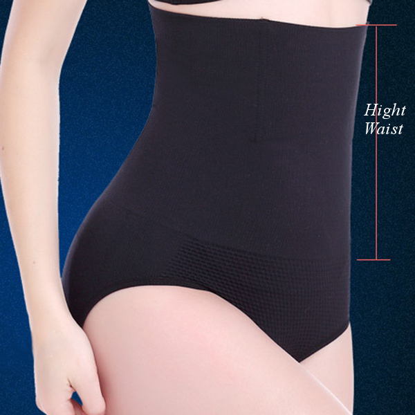 Women Comfy Soft High Waist Push-Up Hips Bodysuit Elastic Breathable Panties Shapewear