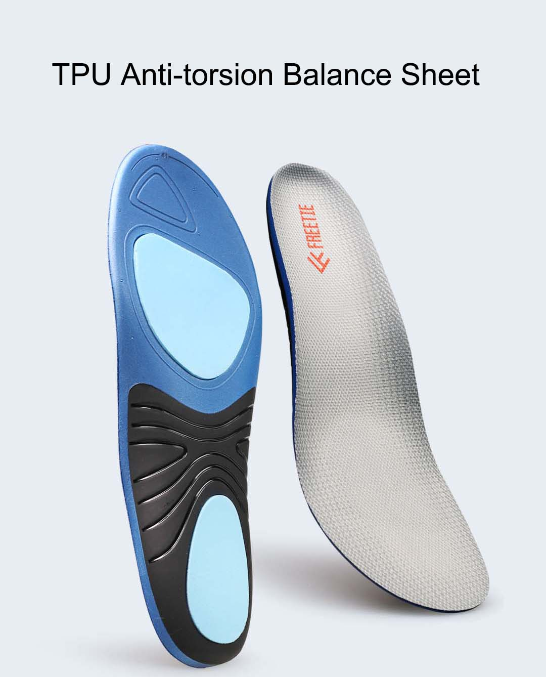 FREETIE EVA Shock Absorption Sports Insole Comfortable High Elastic Insoles for Leather Shoes Sports Running Shoes Casual Shoes from xiaomi youpin
