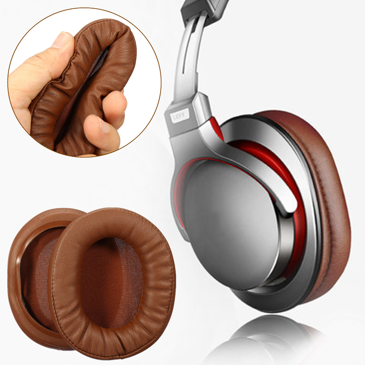 1 Pair Soft Earpads Cushion Replacement for Sony MDR-1A ATH-MSR7 M50X M20 M40 M40X SX1 Headphone