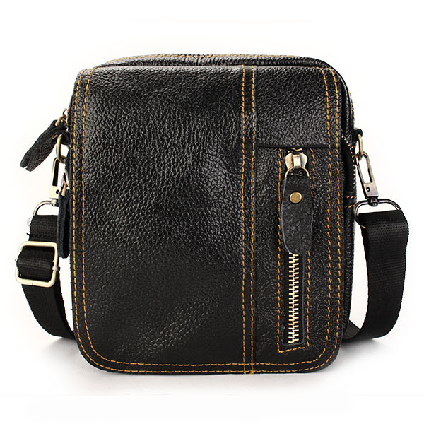 men genuine leather leisure business small shoulder crossbody bag at ... a9ef58721f557