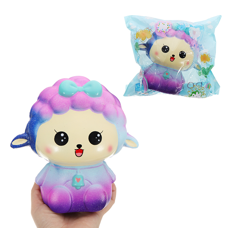 Galaxy Sheep Squishy 18*17CM Sweet Soft Slow Rising Col