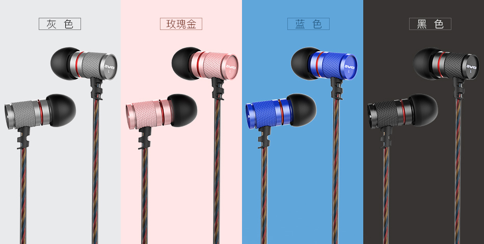 Awei ES-660i In-ear Lightweight Wired Control High Fidelity Bass Earphone With Mic