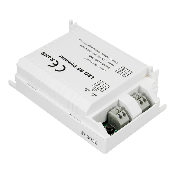 High Voltage 1 Channel Trailing Edge Dimming LED RF Dimmer Controller With 3 Key Remote AC90-240V