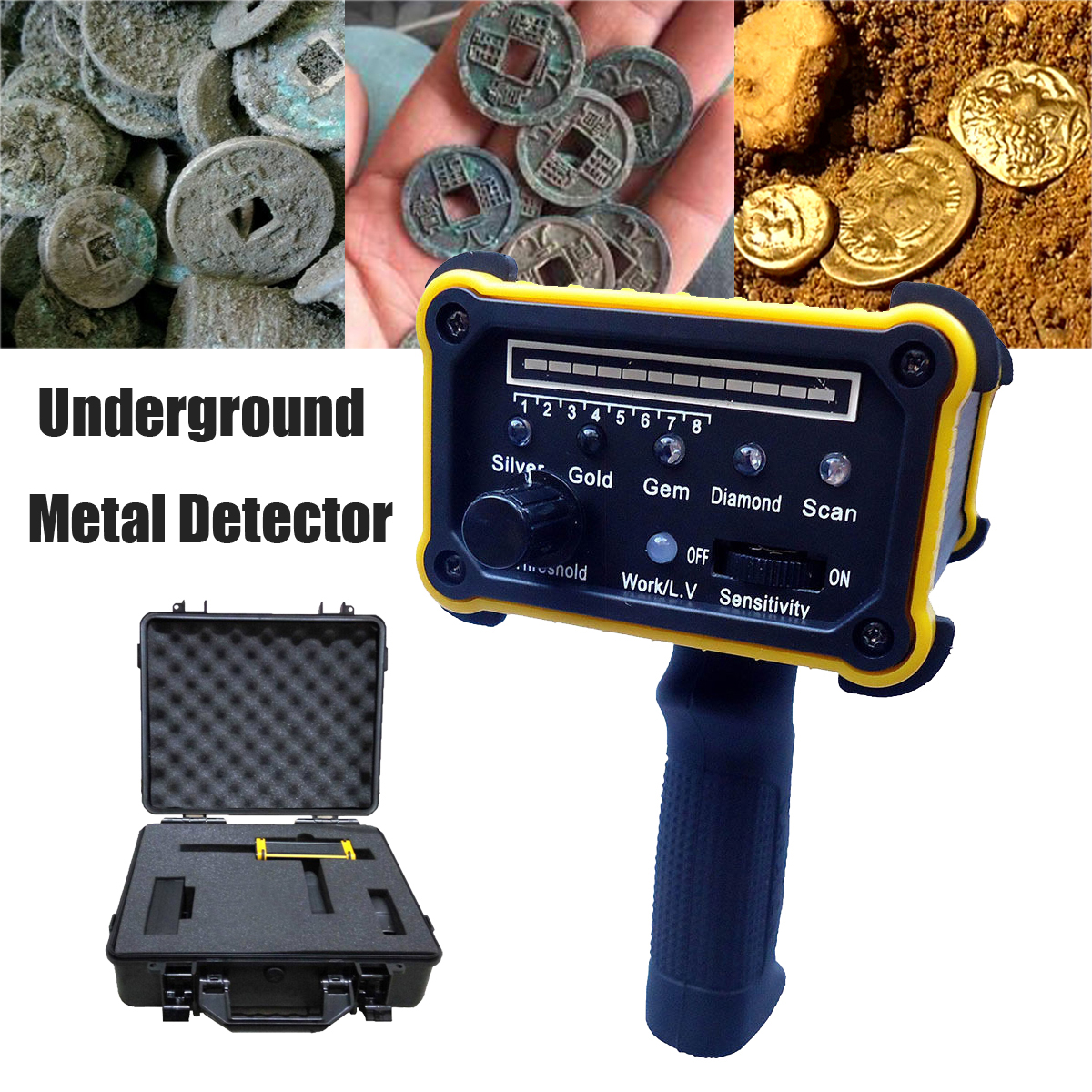 Wide Range Underground Detection Locator Detector Scanner Gold Mineral Metal Detecting