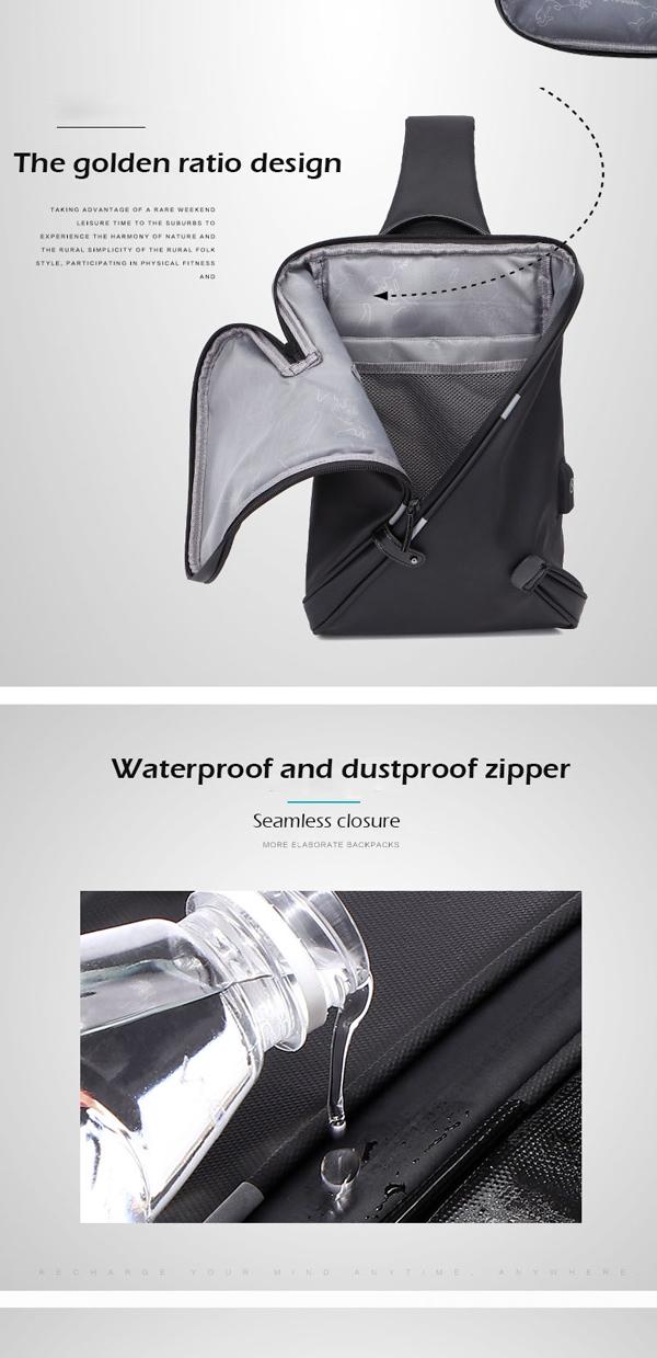 Men Designer Chest Bag Causal Crossbody Bag Antitheft Bag