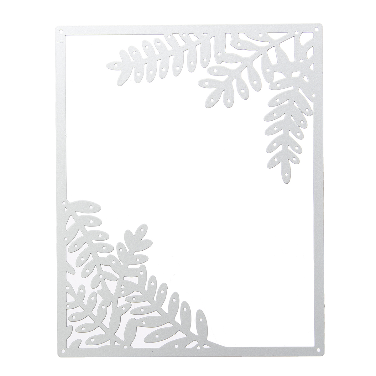 Leaves Square Frame Metal Cutting Dies Stencils DIY Scrapbooking Album Decorative Embossing Paper