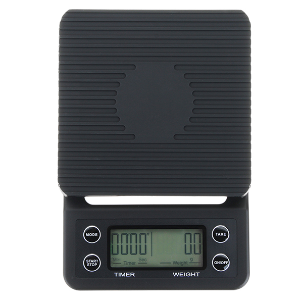 MS-K07 Portable 3kg 0.1g Drip Coffee Scale With Timer Electronic Digital Kitchen Scale