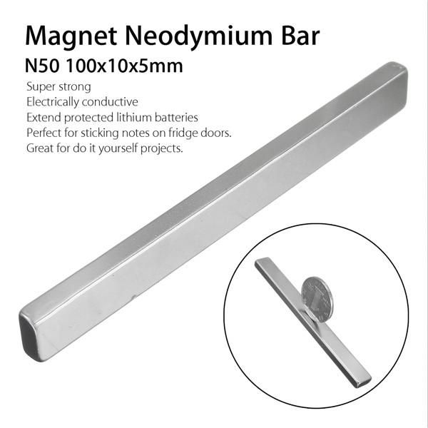 N50 100x10x5mm Block Magnet Rare Earth Neodymium Magnets