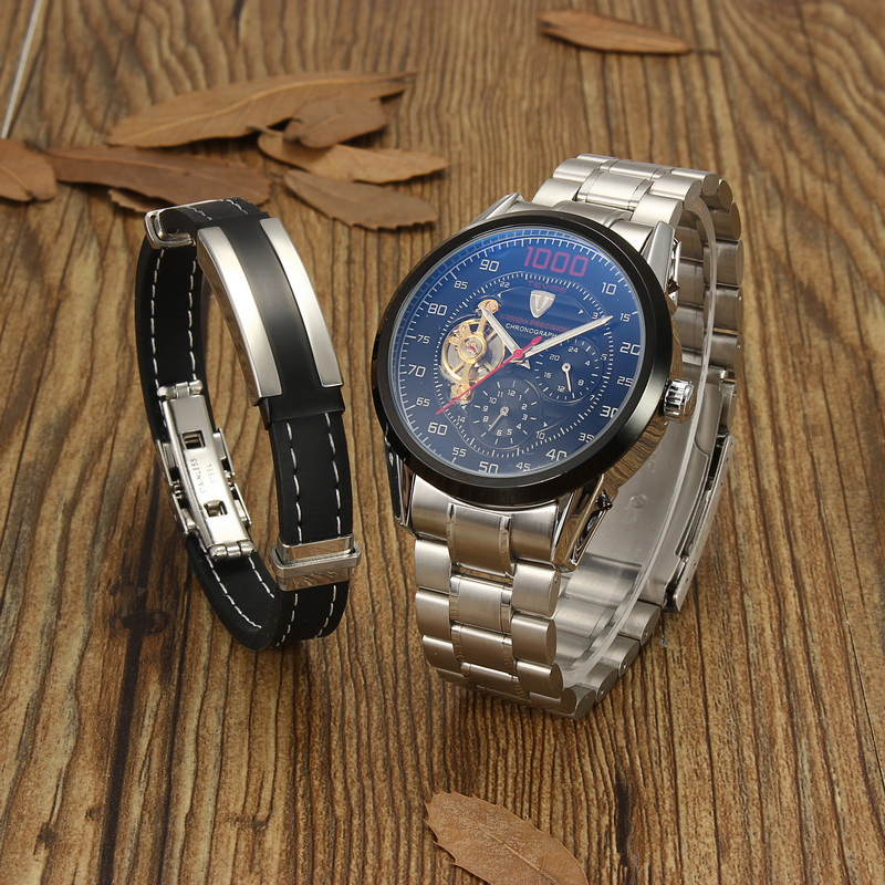 1 Set Men Watch Bracelet For BF Gifts Men Trendy Jewelry Clothing Accessories