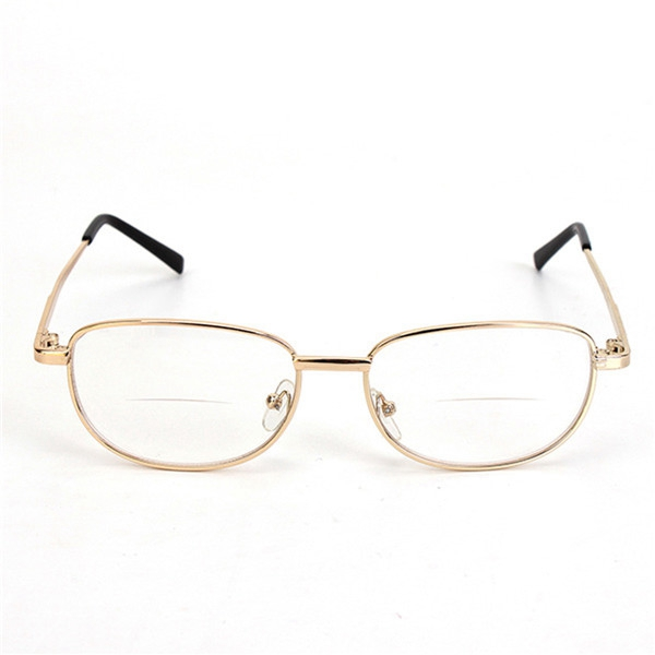 Metal Frame Rimmed Comfortable Bifocal Presbyopic Fatigue Relieve Reading Glasses Strength 1.0 1.5 2.0 2.5 3.0