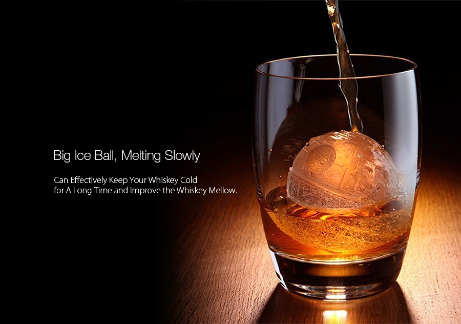 KCASA KC-ON075 Death Star Silicone Sphere Ice Ball Mold Tray Star Wars Chocolate Jelly Candy Mould
