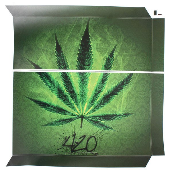 Marijuana Cannabis Cover Skin Decal Sticker for PS4 Play Station 4 Console Controller