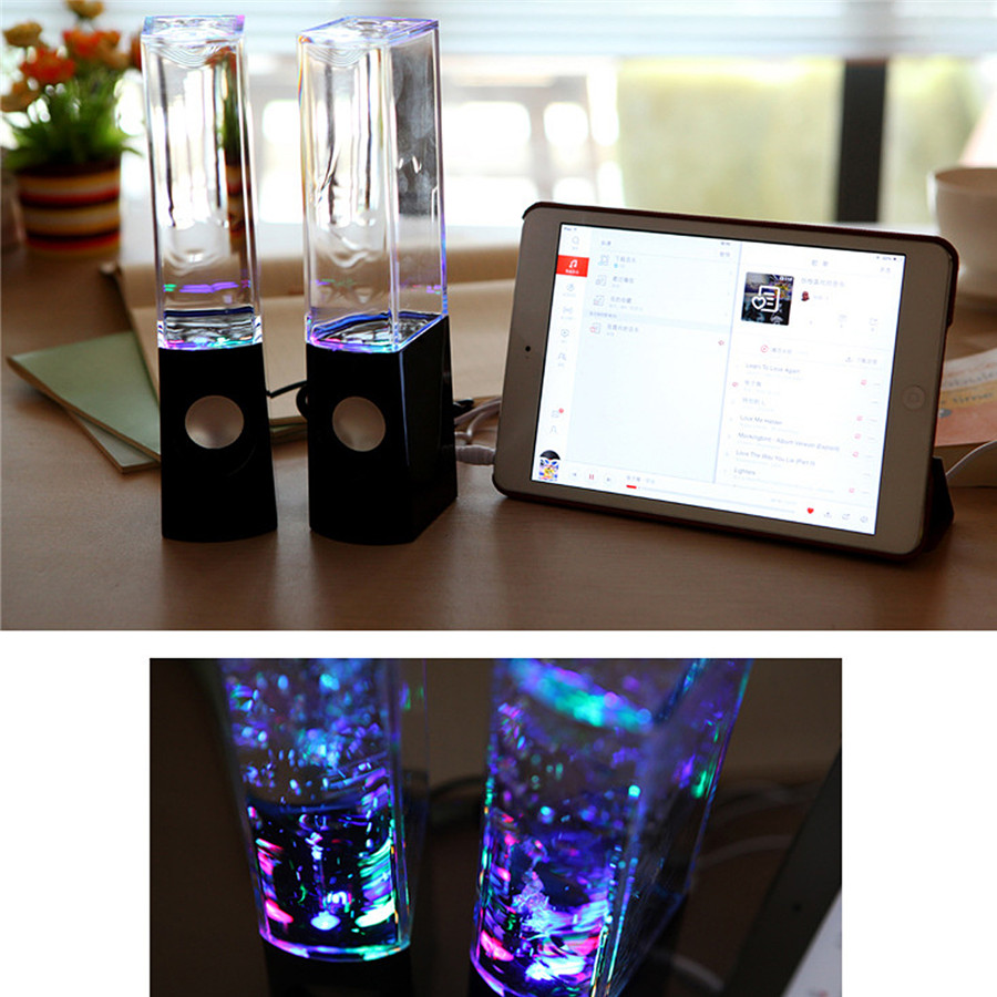 USB bluetooth DC 5V LED Dancing Water Speaker Light Music Fountain for Phones Tablet PC