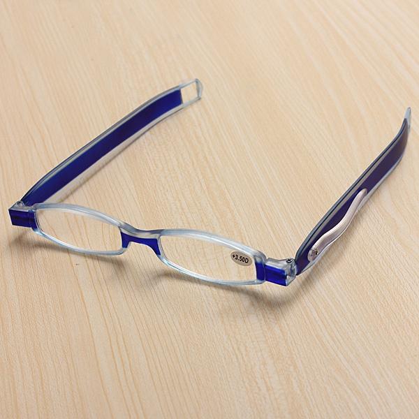 Blue 360 Degree Rotation Rotating Folding Presbyopic Reading Glasses Strength 1.0 1.5 2.0 2.5 3.0 3.5