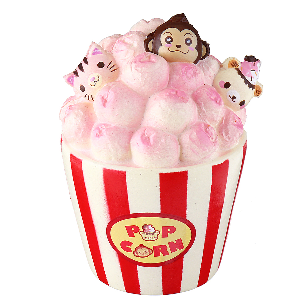 Yummiibear Puni Maru Squishy Popcorn 12*11cm Licensed Slow Rising With Original Packing Gift Collection