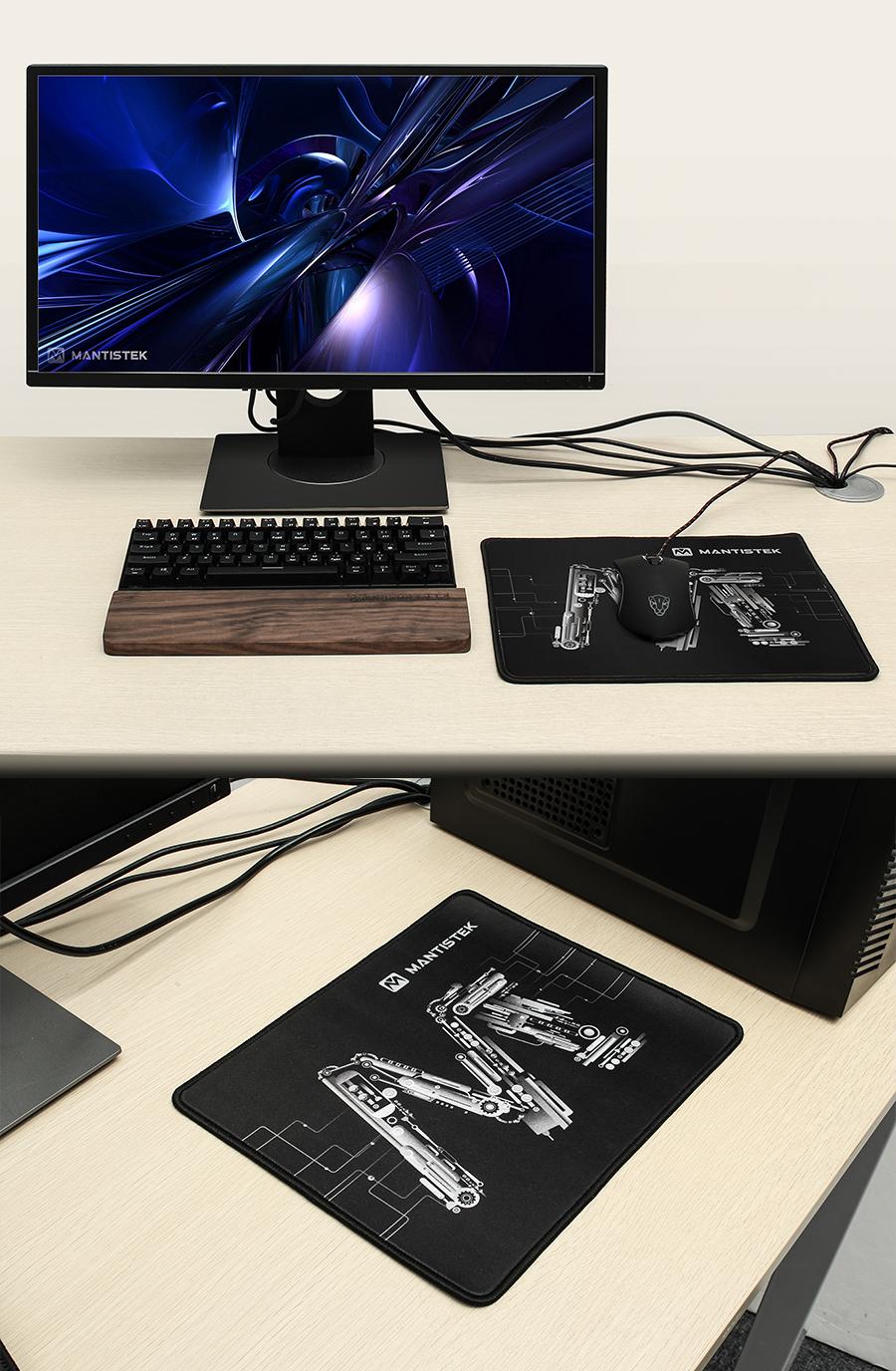 MantisTek® MP2 300*250*3mm Thick Non-Slip Overlock Gaming Mouse Pad Mat