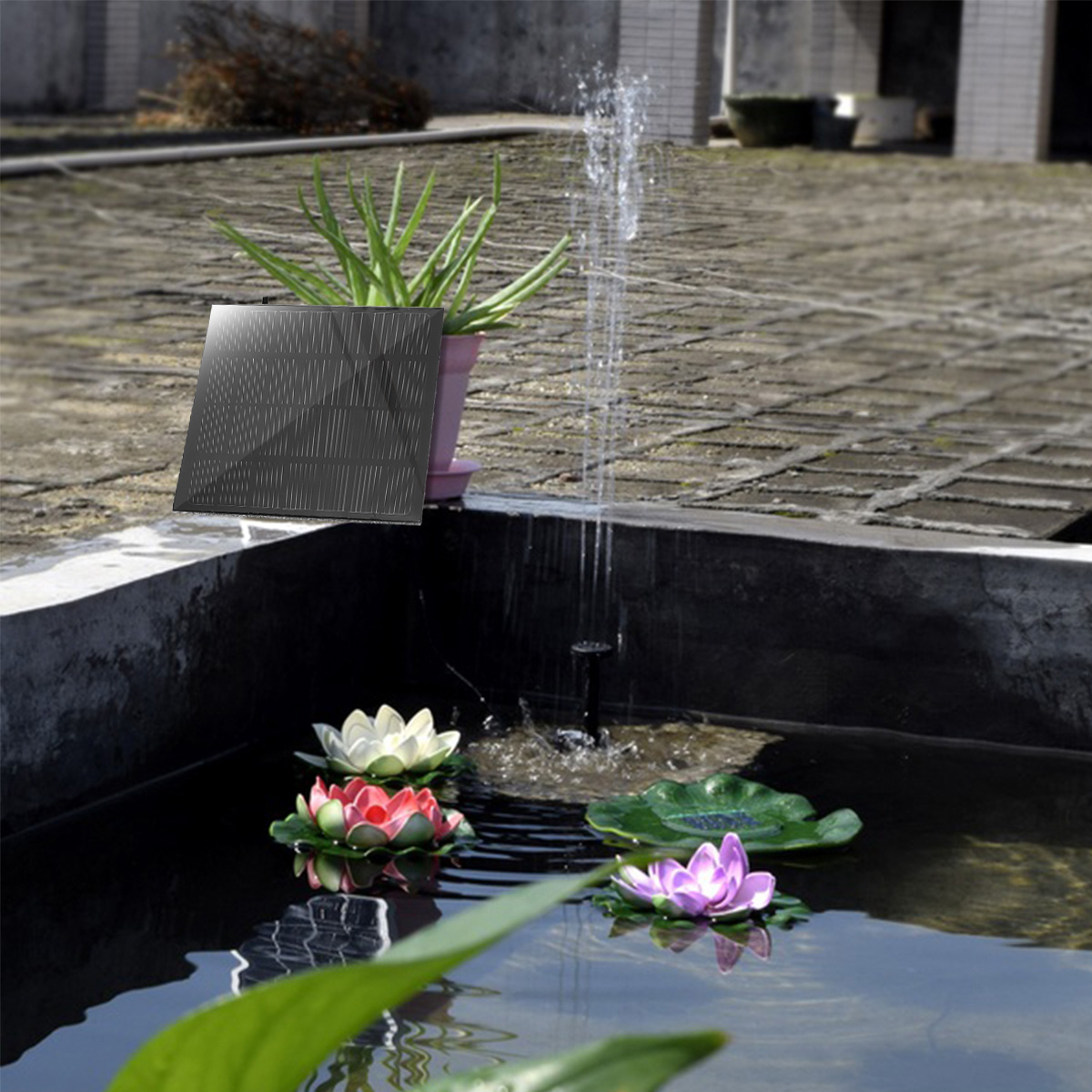 180L/H Solar Water Panel Power Fountain Pump Kit Pool Garden Pond Watering Submersible Pump