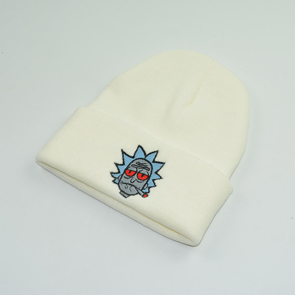 Men's Embroidery Rick and Morty Knitted Beanie