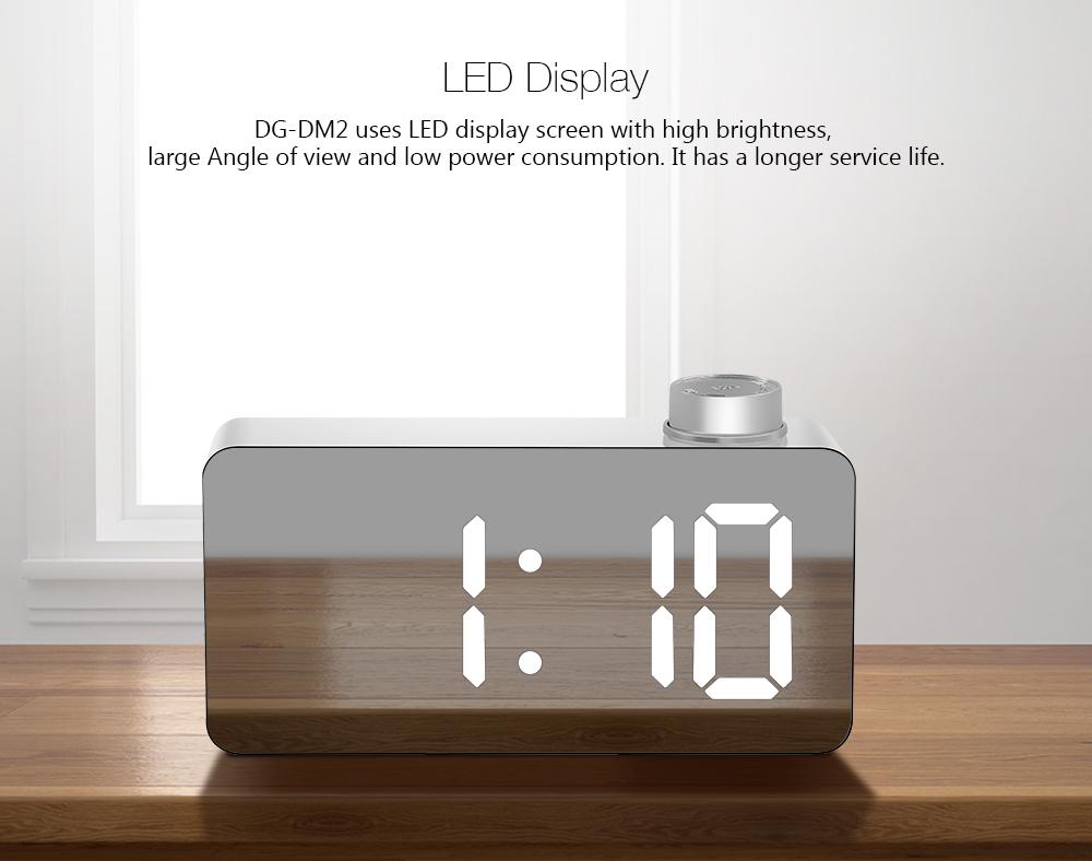 [2019 Third Digoo Carnival] Digoo DG DM2 LED Three Colors Adjustable Display Mirror Clock Snooze Fuction Night Mode Alarm Clock