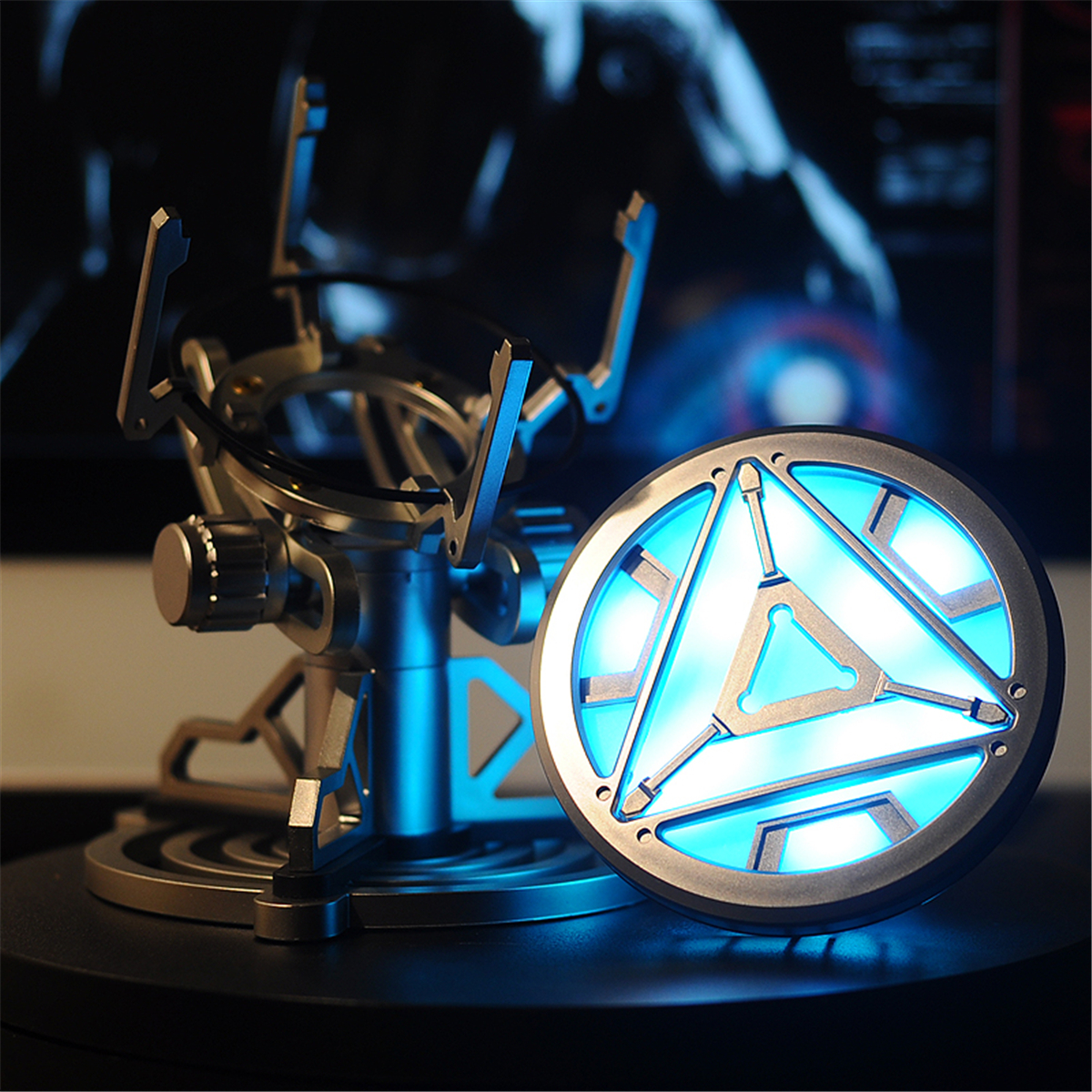 1:1 ARC REACTOR LED Chest Heart Light-up Lamp Movie ABC Props Model Kit Science Toy 44